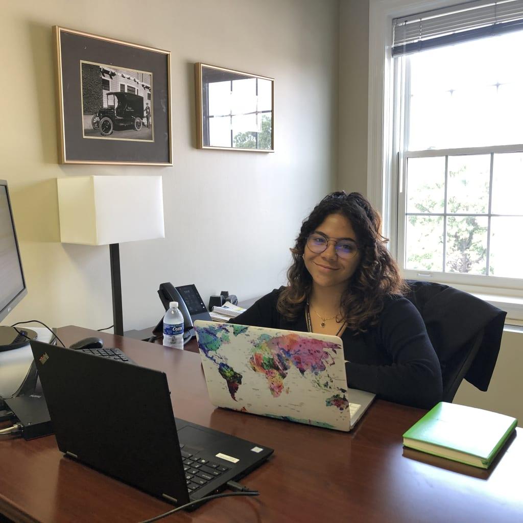 Emelie Jimenez at internship